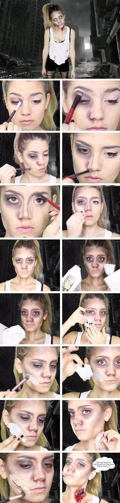 Easy Zombie Makeup Tutorial                                                                                                                                                                                 More