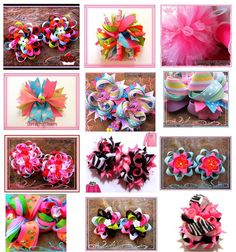 different types of bows for little girls