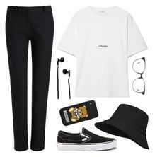 """""""BLK2"""" by zsaraissa ❤ liked on Polyvore featuring Joseph, Yves Saint Laurent, Vans, Master & Dynamic, Boucheron and Moschino"""
