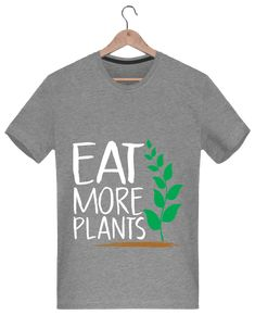 Camiseta Hombre 180g Eat more plants - Bichette - Tunetoo  vegano  vegana   fashion 4ce9645a2374b