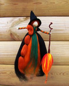 Pagan witch kitchen witch needle felted witch kitchen witch doll wool witch d Kitchen Witch, Halloween Doll, Halloween Witches, Autumn Witch, Felt Angel, Needle Felting Tutorials, Felt Fairy, Pagan Witch, Witch Art