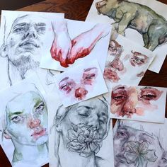 Getting sketches ready to ship tomorrow to people who donated to The Trevor Project by ellysmallwood