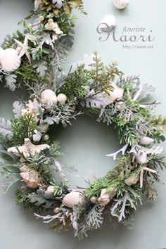 silver and white wreath