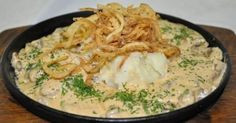 Liver with cheese sauce Chicken Liver - 500 g 1 large onion Processed cheese in the bank 400 g Salt to taste Pepper to taste Bay leaf cup No Salt Recipes, Chicken Livers, Fried Onions, Creamy Sauce, Cheese Sauce, Risotto, Macaroni And Cheese, Main Dishes, Fries