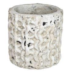 Cement griza Pot bubbles xl - Potten - Potten & Schalen - PTMD