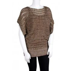 Misses Black Sheer Open Knit Sweater by Nice Wear New York! http ...