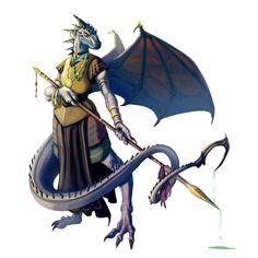 Female Wyvaran Oracle - Pathfinder PFRPG DND D&D d20 fantasy