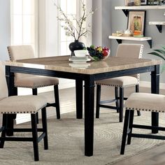 Square Dining Room Table, Dining Room Bar, Round Dining, Dinner Room Table, Tall Dining Table, Dinning Tables And Chairs, Dining Rooms, Table For Small Space, Chairs For Small Spaces
