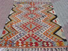 "Anatolia Turkish Antalya Barak Kilim 55 9"" x 83 8"" Area Rug Kelim Carpet | eBay"