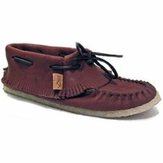 This is a shoe model with a short fringe at the top. Comes with a double thick gum sole. These are made in Canada.