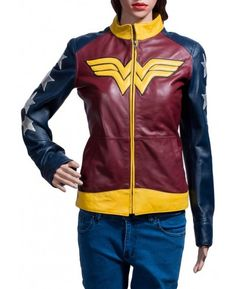 Get this amazing Wonder Woman leather jacket and be the most stylish hero in your group of friends.