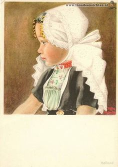Girl in Dutch costume by Rijka Bleker
