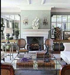 A while back, I did a post on a designer that was as attractive as his work, John Jacob Zwiegelaar . His South African design company, John . Formal Living Rooms, Home Living Room, Living Room Decor, Living Spaces, Interior Decorating, Interior Design, Family Room Design, Decoration Design, Room Inspiration