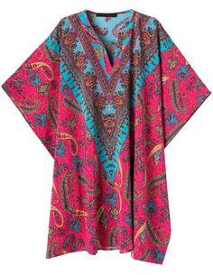 Vestido suelto cuello V Vintage Floral rosa 12.58€