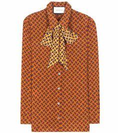 Printed silk blouse | Gucci