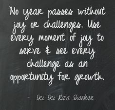 No year passes without joy or challenges...