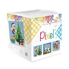 Complete set om 3 basisplaatjes van 6 x 6 cm te maken met Pixelhobby.