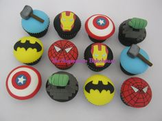 Marvel / DC Superhero Cupcakes - by SugarplumB @ CakesDecor.com - cake decorating website