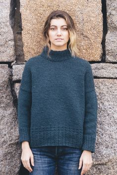 rainier pullover by whitney hayward / from the cascades collection / in quince & co. puffin, color slate