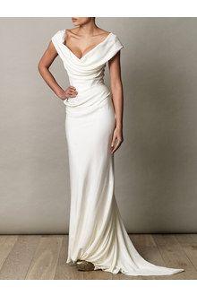 Vivienne Westwood Gold Label Cocotte Georgette Drape Dress in White (ivory)