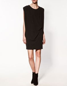 zara 2012, draped dress w knot