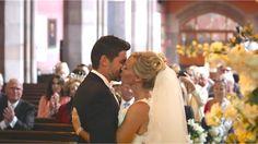 White Balloon Films / Govan Parish Church Wedding / Mar Hall Wedding / Glamorous Wedding / Bride & Groom / Ceremony / First Kiss