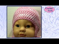 How to make Baby #Crochet knit ENGLISH Hat with Ear Flaps Tutorial Free Online Class Art - YouTube