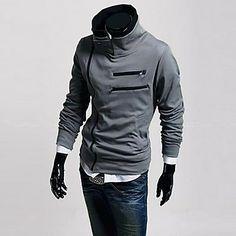 diagonal zipper pied de col veste polaire pour hommes (fermeture aléatoire) - EUR € 24.82