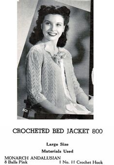 e78f57e5b88af Knit and Crochet Lacy Bed Jacket Patterns (set of 4)   Bed sweater patterns    Knit Crochet bed jacket   nursing jacket patterns. Nursing JacketsPdf ...