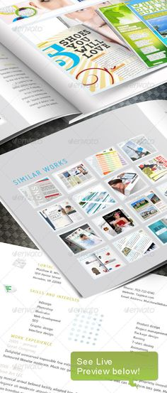 Stylish Software Product Catalogue TriFold Indesign Template A