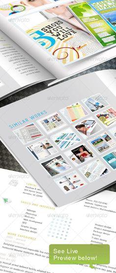 Web Portfoio InDesign template - Portfolio Brochures  https://graphicriver.net/item/web-portfoio-indesign-template/236536?ref=231267