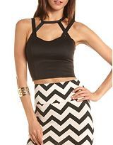 Crop Shirts, Cropped Bra Tops, Short Cropped Tops, Lace Cropped Top: Charlotte Russe