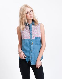 All About Eve Paisley Shirt All About Eve, Free Spirit, Paisley, Vest, Denim, Celebrities, Jackets, Shirts, Collection