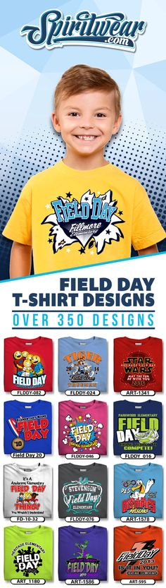 Over 350 School Field Day T-Shirt Design Ideas. Customized with your schools information. Field Day Games, End Of School Year, School Starts, Track Meet, School Information, Spirit Shirts, School Clubs, Teacher Organization, Classroom Inspiration
