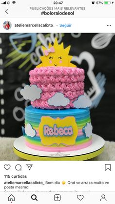 Sunshine Birthday Cakes, Birthday Ideas, Desserts, Baby, Food, You Are My Sunshine, Sun Rays, Diapers, Decorating Cakes