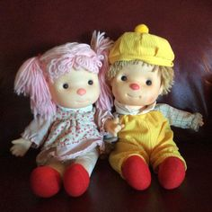 Vintage 80's Komfy Kids Dolls Boy And Girl Astra Trading Corp Made In Taiwan #Dolls