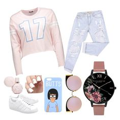 """""""#OOTD"""" by queen-m1m on Polyvore featuring adidas Originals, Olivia Burton, Fendi and ootd"""