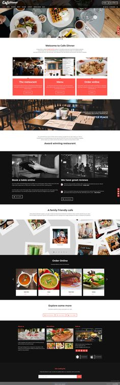 Cafe Dinner is a #restaurant theme for #weebly powered websites. #Cafe makes it easy for any one to drag and drop content boxes (text, photos, videos, forms, buttons, etc.) to build website information.