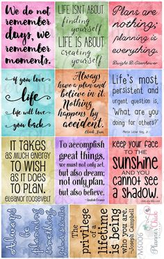 Inspirational Quotes Discover Your place to buy and sell all things handmade Watercolor Quotes Planner Stickers for Erin Condren stickers for Happy Planner full boxes Vie Positive, Positive Quotes, Motivational Quotes, Inspirational Quotes, Planner Stickers, 365 Jar, Image Clipart, Watercolor Quote, Phone Wallpaper Quotes
