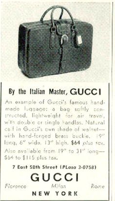 Gucci. 1954.  Listed for  64 dollars.