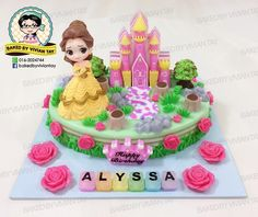 """🎀 Princess Belle Jelly Cake """"公主"""" 系列燕菜蛋糕 🎀 Weight 重量 +/- kg 🎀 Jelly Cake with Longan 内含龙眼果肉 🎀 Toys are charged separately. Subject to stock availability and design. 🎀 Kindly place your order 5 days in advance 请在五天前下订 Jelly Cake, Princess Belle, Cute Desserts, Cake Birthday, Beauty And The Beast, Yogurt, Tart, Pudding, Lunch"""