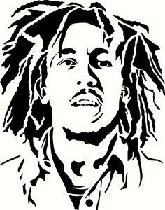 Young Bob Marley Vinyl Decal Graphic - Choose your Color and Size Stencil Graffiti, Stencil Art, Drawing Stencils, Skull Stencil, Graffiti Artwork, Bob Marley Tattoos, Bob Marley Kunst, Arte Bob Marley, Airbrush