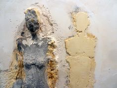 Manuel Neri; Arco de Geso VI; 1985; plaster with dry pigments over armature of wood, wire, styrofoam, burlap