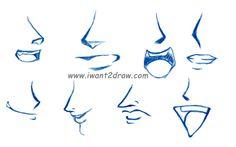 How To Draw Anime Boy Lips | How to draw anime manga and rose ...
