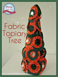 Christmas Craft Fabric Topiary Tree