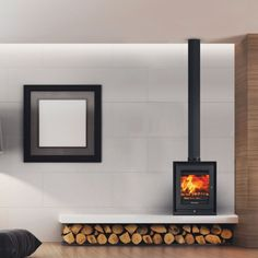 New Screen freestanding Fireplace Hearth Strategies wood storage underneath Riva Studio 2 Freestanding Wood Burning Stove – Stovax Stoves … Wood Burner Fireplace, Fireplace Hearth, Home Fireplace, Modern Fireplace, Fireplace Design, Fireplace Ideas, Fireplaces, Corner Log Burner, Wood Burning Stove Corner
