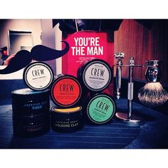 American Crew Pucks available at 18 8 Fine Men's Salons Nationwide #EighteenEight #AmericanCrew