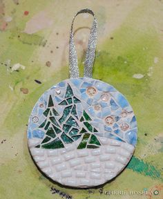 Ornaments of 2010 - Cherie Bosela - Fine Art Mosaics & Photography - Mosaic Diy, Mosaic Crafts, Mosaic Projects, Mosaic Glass, Mosaic Tiles, Stained Glass, Fused Glass, Xmas Ornaments, Christmas Baubles