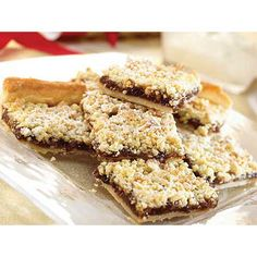 Mincemeat streusel  Replace mincemeat with some fruit filling.