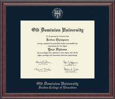 Silver Embossed Diploma Frame in Studio with Navy Mat